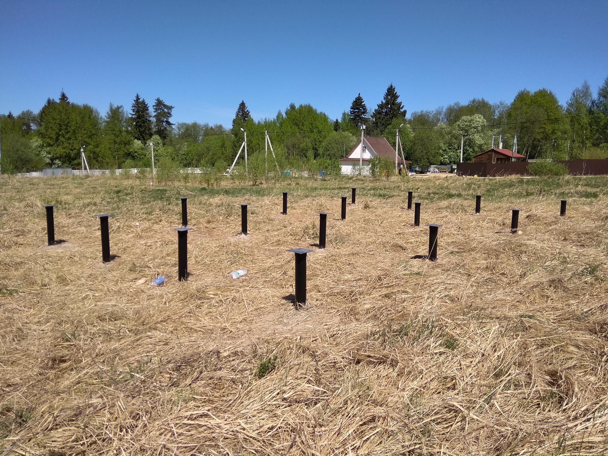 Полноценное свайное поле при ремонте фундамента